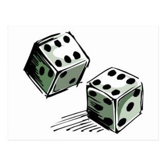 Craps Dice High Roller Gambling Postcard