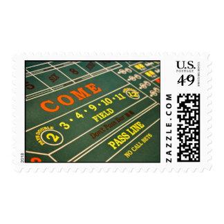 Craps Gambling Table Postage Stamp