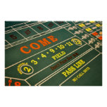 Craps Gambling Table Poster