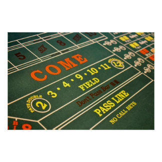 Craps Gambling Table Poster
