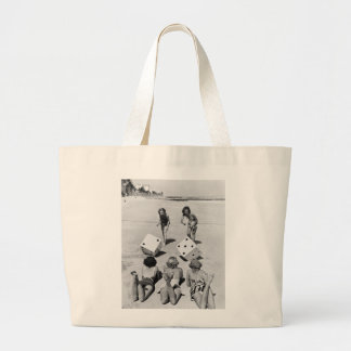 Craps in the Sand, 1940s Tote Bag