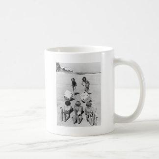 Craps in the Sand, 1940s Coffee Mug