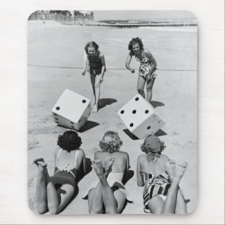 Craps in the Sand, 1940s Mouse Pad