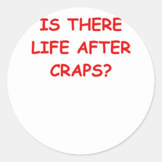 craps joke sticker