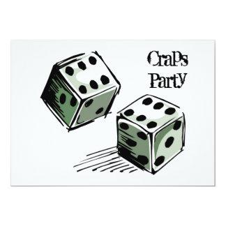 Craps Party Invitation