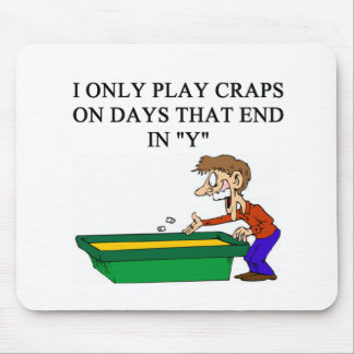 craps shooter casino gambler mouse pad