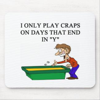 craps shooter casino gambler mouse pad