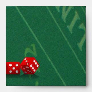 Craps Table & Las Vegas Dice Envelopes