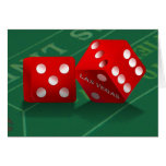 Craps Table & Las Vegas Dice Greeting Cards