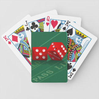 Craps Table & Las Vegas Dice Card Deck