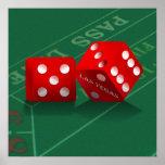 Craps Table & Las Vegas Dice Print