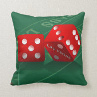 Craps Table & Las Vegas Dice Throw Pillows