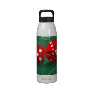 Craps Table & Las Vegas Dice Reusable Water Bottle