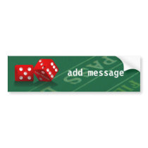 Craps Table With Las Vegas Dice Bumper Sticker
