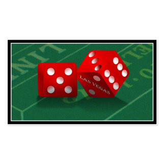 Craps Table With Las Vegas Dice Double-Sided Standard Business Cards (Pack Of 100)