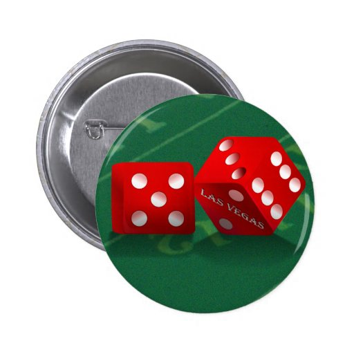 Craps Table With Las Vegas Dice 2 Inch Round Button
