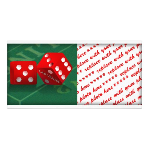 Craps Table With Las Vegas Dice Card