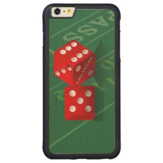 Craps Table With Las Vegas Dice Carved Maple iPhone 6 Plus Bumper Case