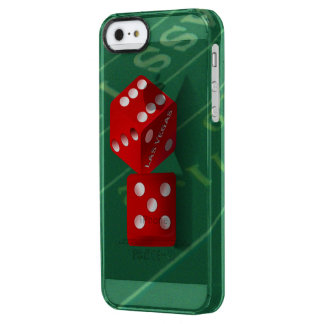 Craps Table With Las Vegas Dice Clear iPhone SE/5/5s Case
