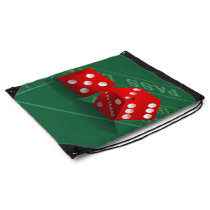 Craps Table With Las Vegas Dice Drawstring Backpack