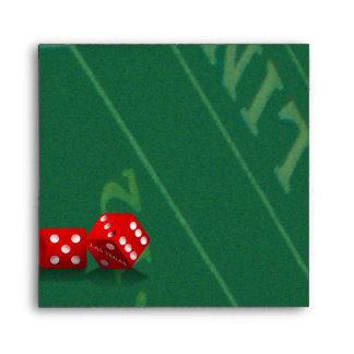 Craps Table With Las Vegas Dice Envelope