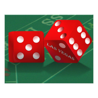Craps Table With Las Vegas Dice Flyer