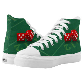 Craps Table With Las Vegas Dice High-Top Sneakers