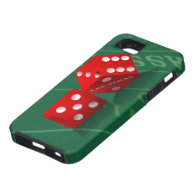 Craps Table With Las Vegas Dice iPhone 5 Cover