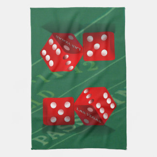 Craps Table With Las Vegas Dice Towel