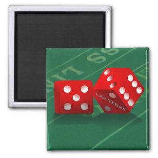 Craps Table With Las Vegas Dice Magnet