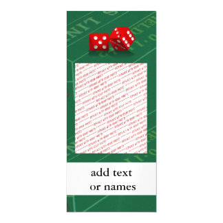 Craps Table With Las Vegas Dice Magnetic Card