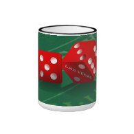 Craps Table With Las Vegas Dice Ringer Coffee Mug