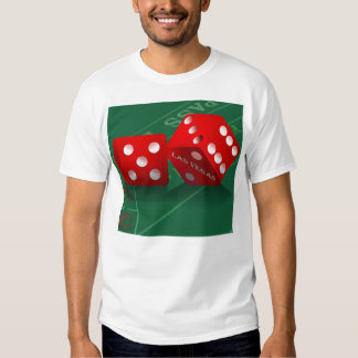 Craps Table With Las Vegas Dice Tee Shirt