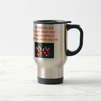 craps travel mug