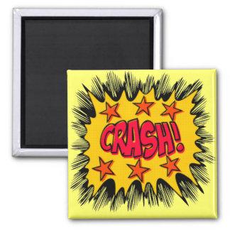 Crash 2 Inch Square Magnet