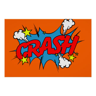 Crash - Comic Sign / Poster