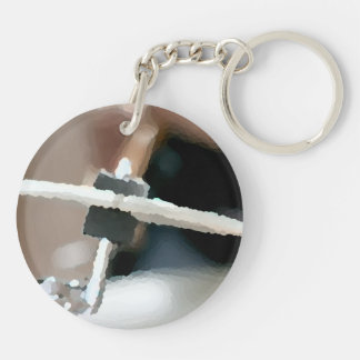 Crash cymbal painterly drumset side music design keychain