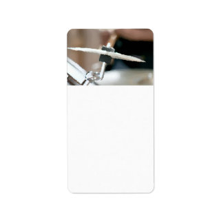 Crash cymbal painterly drumset side view personalized address labels