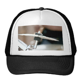 Crash cymbal painterly drumset side view mesh hat