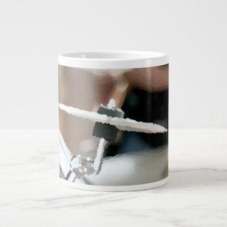 Crash cymbal painterly drumset side view 20 oz large ceramic coffee mug