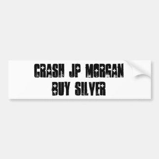 Crash JP MORGAN Bumper Stickers