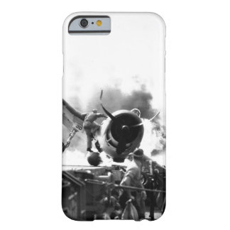 Crash landing of F6F on flight deck of_War Image Barely There iPhone 6 Case