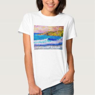 crash of a wave t-shirt