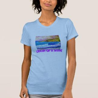 crash of a wave tee shirt