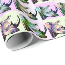 Crash of Rhinos Pop Art Wrapping Paper