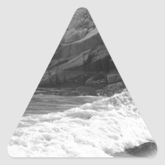 Crash of waves triangle sticker