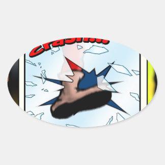 Crash!!! Oval Sticker