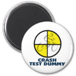 CRASH TEST DUMMY - bike 2 Inch Round Magnet