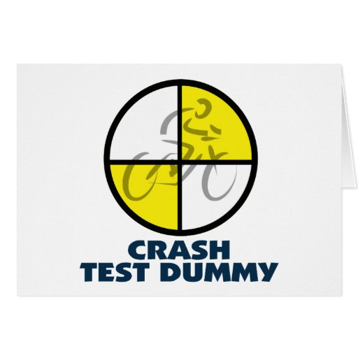 CRASH TEST DUMMY - bike Cards