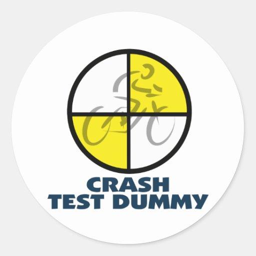 CRASH TEST DUMMY - bike Round Stickers